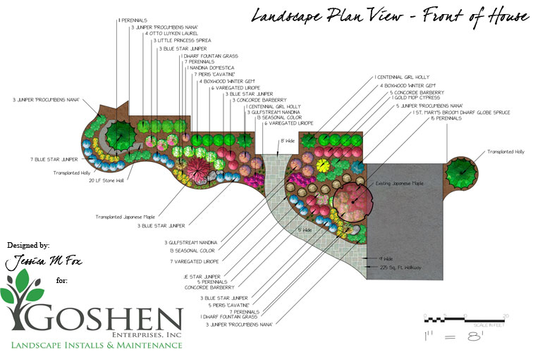 Jessica m fox landscape design consulting for Sample landscape plan